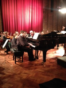 Sam Hanson performing Rachmaninov's 3rd Piano Concerto with the Wimborne Chamber Orchestra